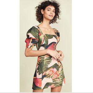 FARM Río Paradise Sleeve Dress